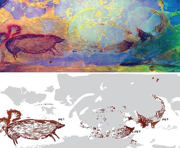 Pintura rupestre más antigua del mundo fue hallada y representa un animal