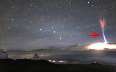 Extraños fenómenos son observados en el cielo de Hawaii