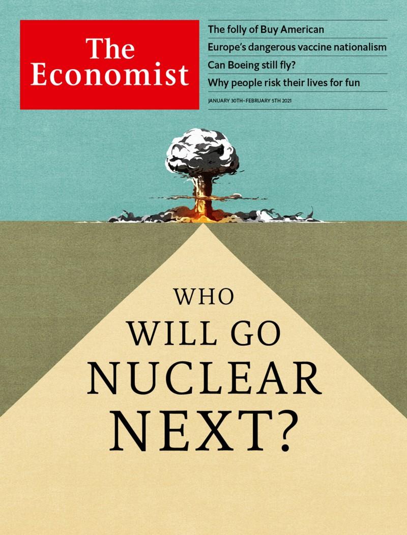 Portada de «The Economist» muestra explosión nuclear cerca de Pirámide ¿Nuevo Plan de la Élite?