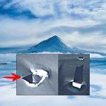 Descubren extrañas anomalías que sobresalen del hielo de la Antártida