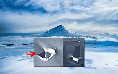Descubren extrañas anomalías que sobresalen del hielo de la Antártida (VÍDEO)