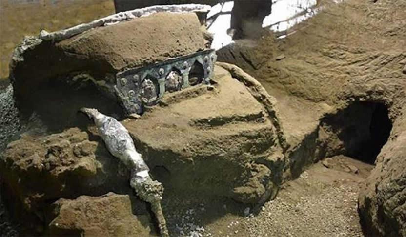 El carro ceremonial descubierto en Pompeya