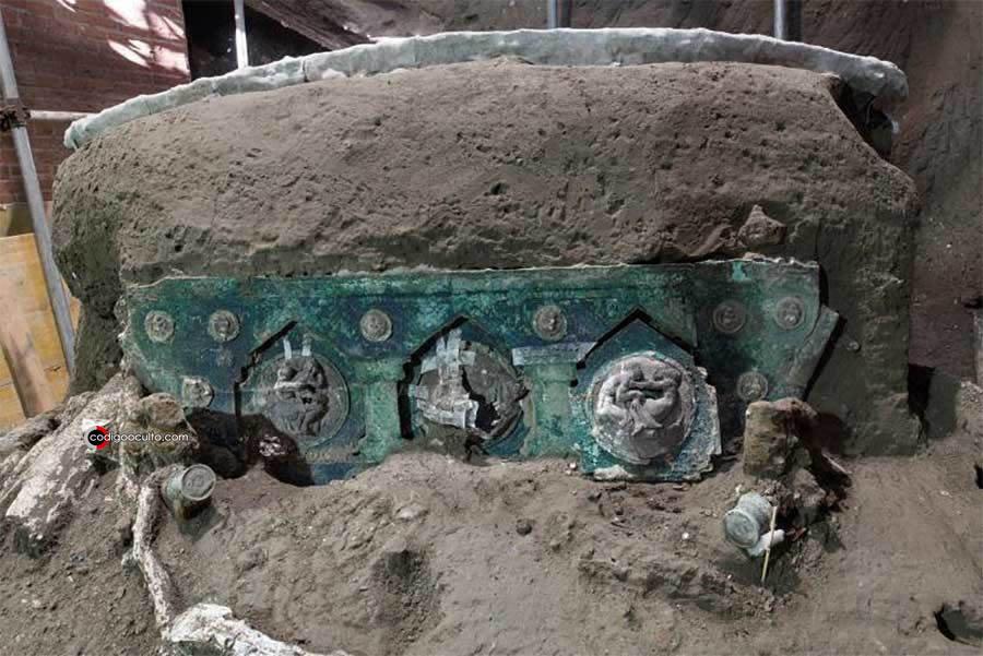 El carro ceremonial descubierto cerca de Pompeya