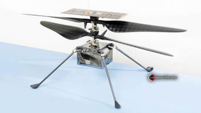 El Ingenuity, el helicóptero autónomo puede tomar imágenes en color con una cámara de 13 megapíxeles, similar a la de los teléfonos inteligentes