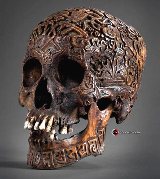 Calavera tallada del Tíbet
