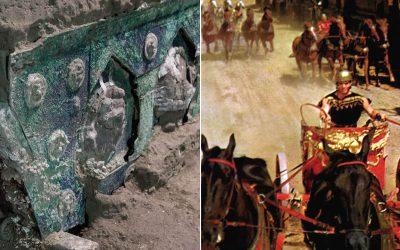 Antiguo carro ceremonial romano casi intacto es descubierto en Pompeya