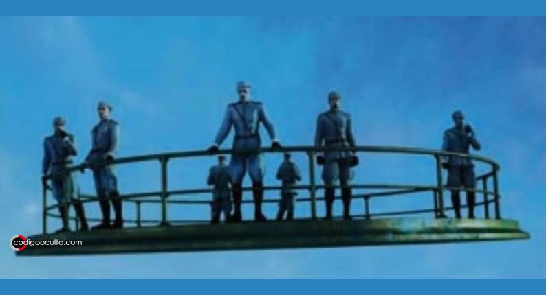 Agnes Whiteland dijo que los hombres que se encontraban sobre la plataforma voladora iban uniformados