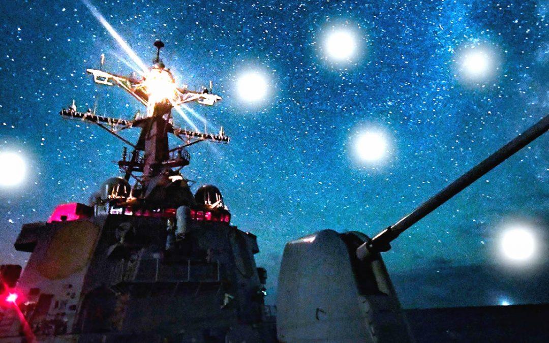 Misteriosos «drones» acecharon a buques de guerra frente a California durante varias noches