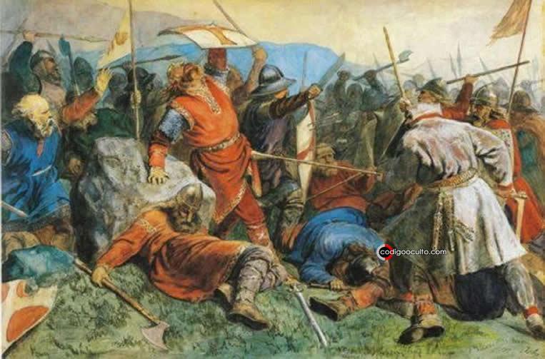 Ejército vikingo en batalla