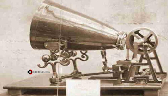 El Fonoautógrafo inventado por Édouard-Léon Scott de Martinville