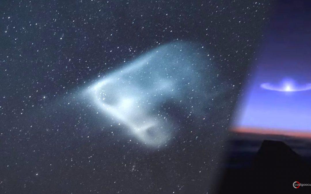 Marineros capturan una misteriosa luz sobre el Océano Índico (VÍDEO)
