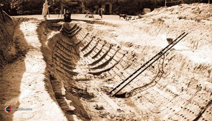 Imagen de la excavación en Sutton Hoo