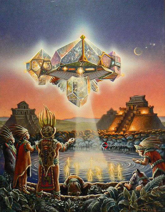 Representación de un artefacto volador de la Gente de las Estrellas