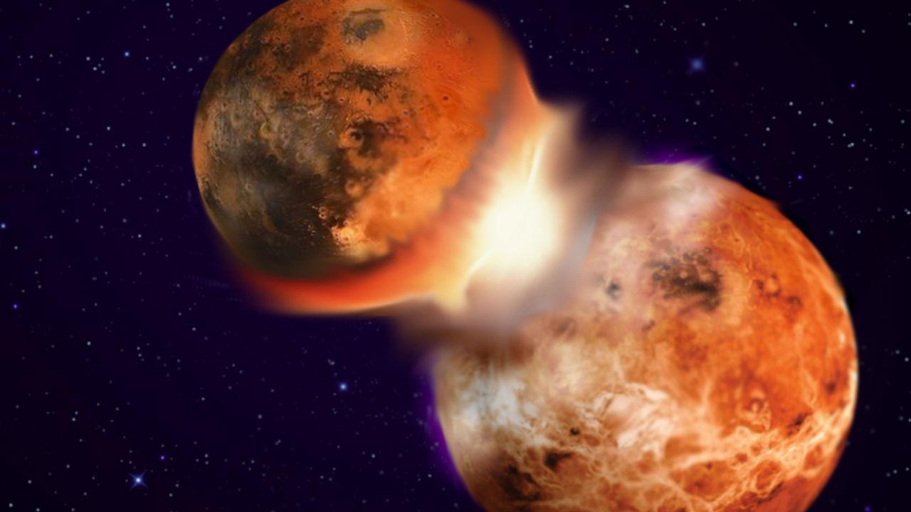 Theia, quizás tan grande como la proto-Tierra, habría entregado sus rocas más densas al interior del planeta