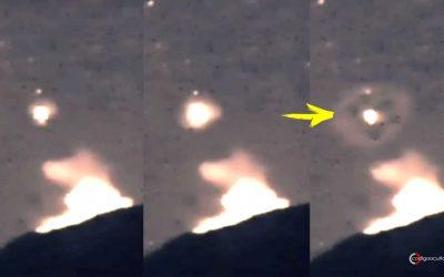Reportan OVNI sobre el volcán Popocatépetl, creando un extraño patrón (VÍDEO)