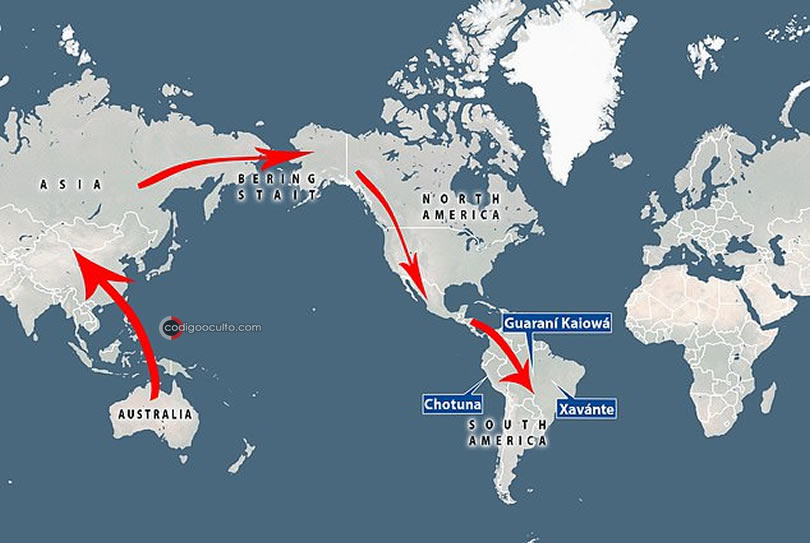 Los investigadores proponen que la ascendencia proviene de los primeros australianos que se integraron con los primeros estadounidenses que hicieron el largo viaje desde Asia por el puente terrestre del estrecho de Bering hace unos 15.000 años