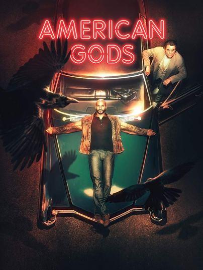 Imagen promocional de la serie con Shadow y Mr. Wednesday.