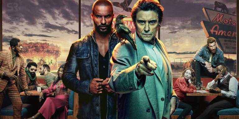 Imagen promocional de la serie American Gods en la que aparecen algunos de los personajes más importantes.
