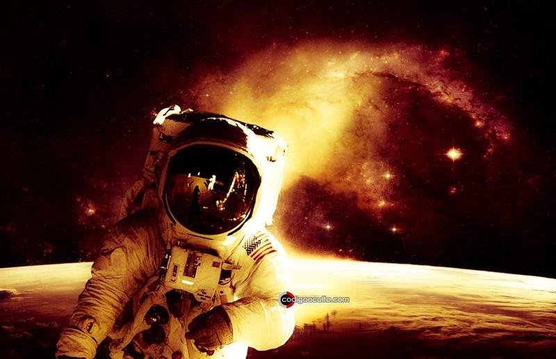 Representación de un astronauta en el espacio