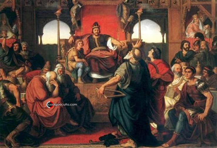 La fiesta de Atila (en la que aparece representado Prisco)
