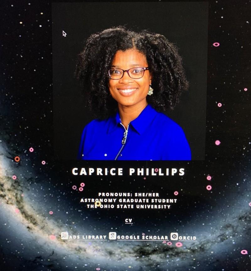Caprice Phillips, estudiante de doctorado en la Ohio State University.