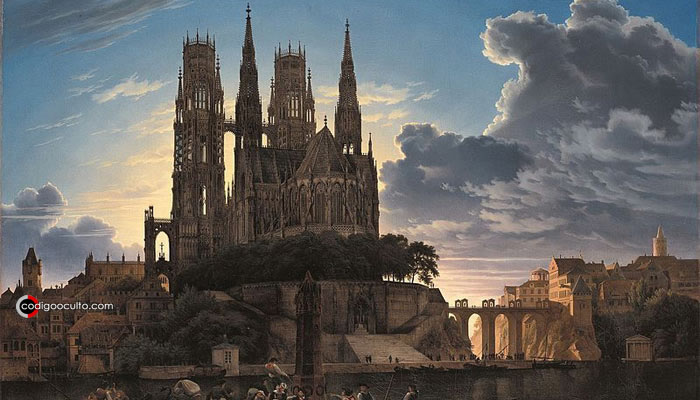 Lyonesse es una mítica ciudad de las leyendas artúricas que aparece en las historias de Tristán. Crédito: Karl Eduard Biermann/Wikipedia Commons
