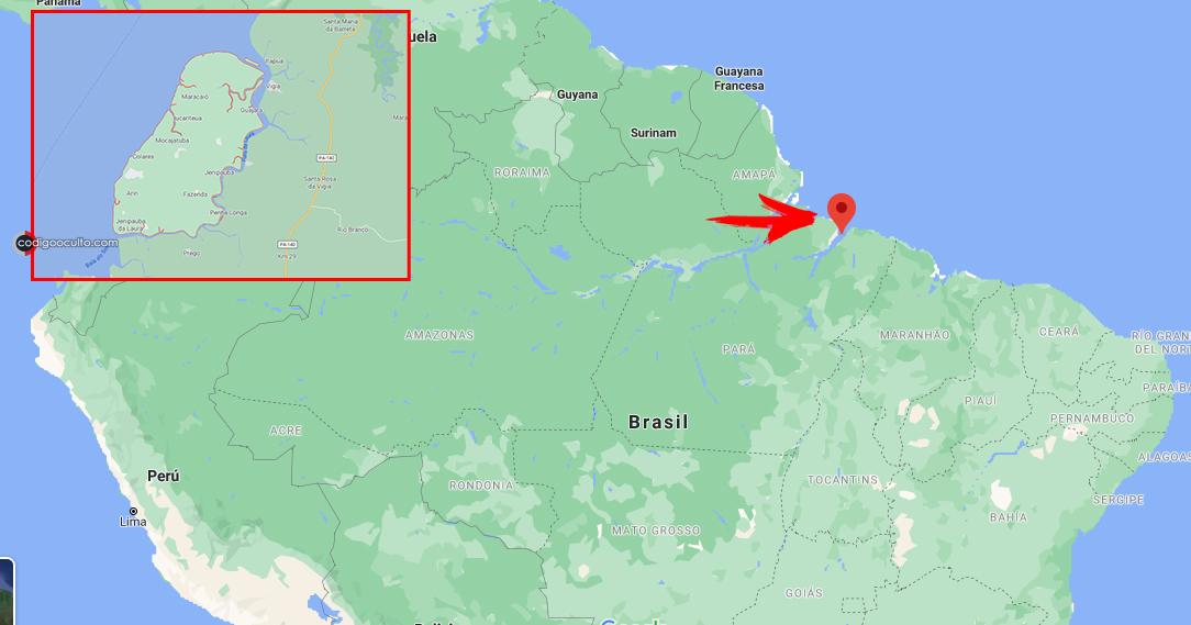 Mapa de la ubicación de Colares en el norte de Brasil