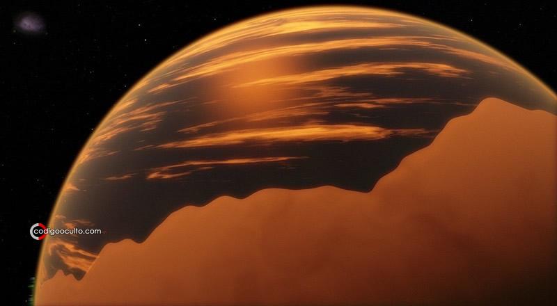 Representación de un exoplaneta