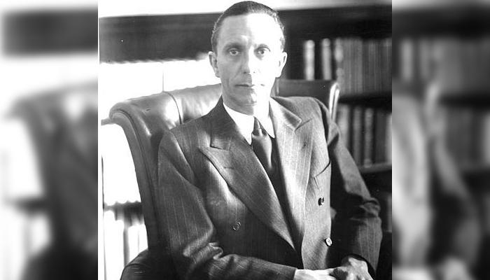 Joseph Goebbels se suicidó escondido en su búnker en 1945, dejando a Krüger a su suerte