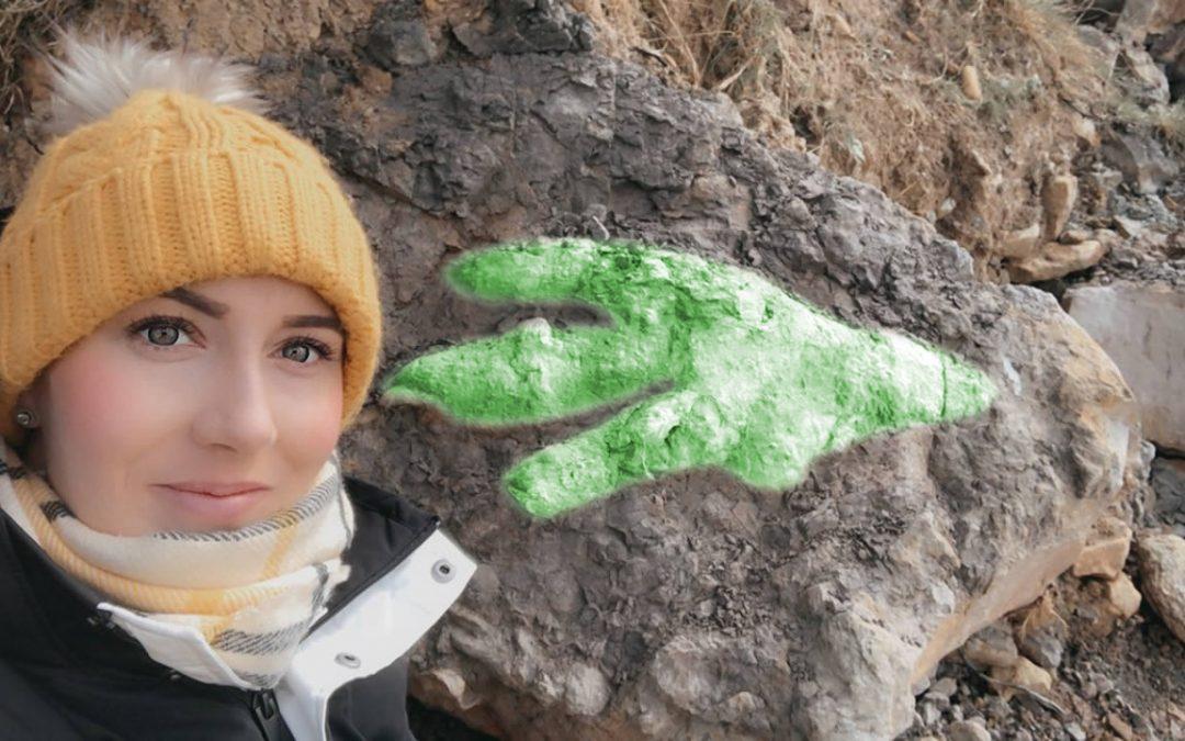 Mujer encuentra huella de un dinosaurio carnívoro enorme de 175 millones de años