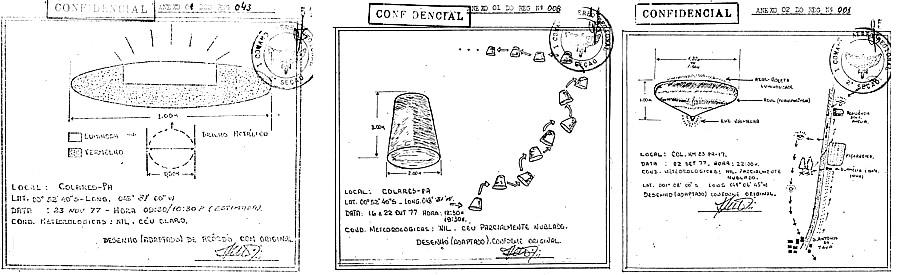 """Tres de los informes incluidos en el informe final de Isla Colares. A pesar de los testigos, las autoridades dicen que los testigos vieron """"los planetas Venus y Marte"""""""