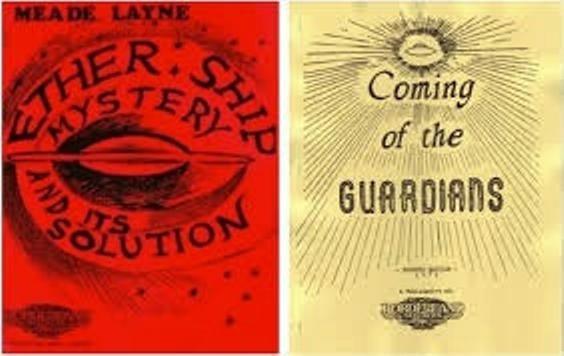 Dos de los libros escritos por Mead Layne, durante la década del 50'
