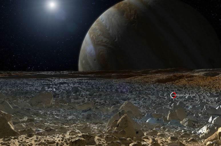 Representación artística de la superficie de la luna Europa de Júpiter. Aunque Europa es presumiblemente sin vida, podría ser informativo liberar bacterias en las profundidades acuosas de la luna y observar cómo evoluciona a lo largo de 10.000 años