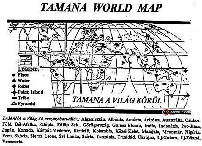 Mapa del mundo de Tamana