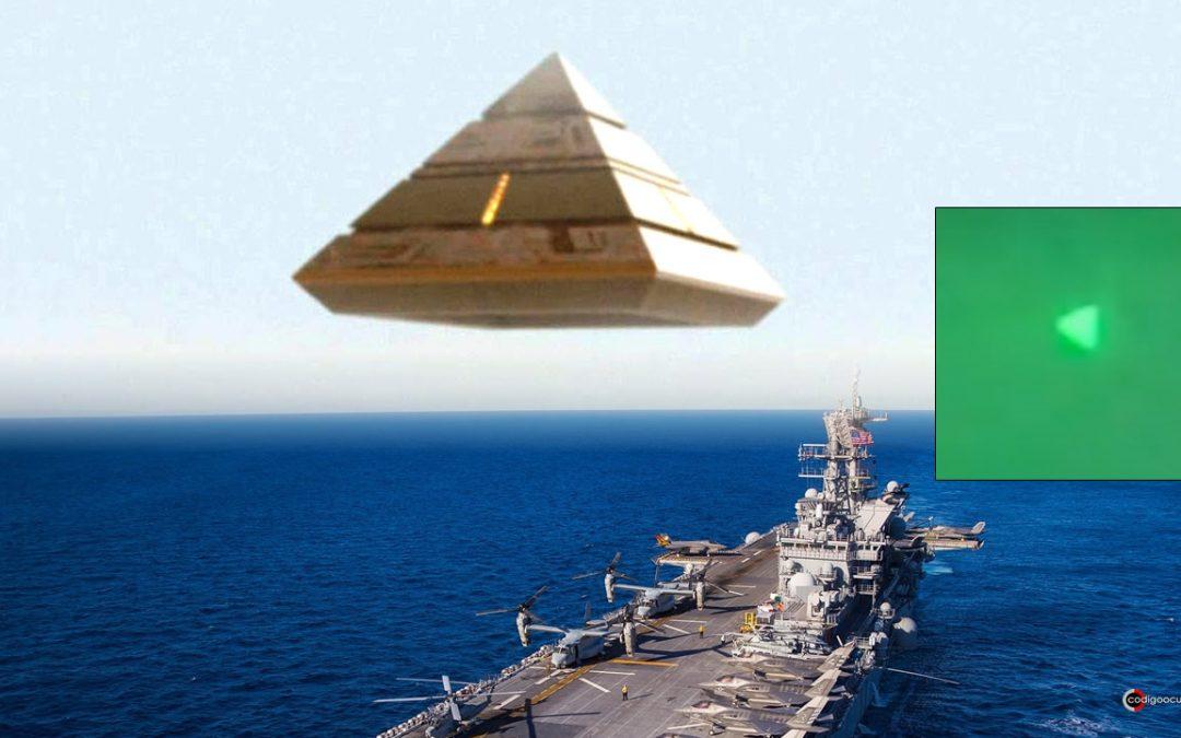 Filtran vídeo de «OVNI piramidal» volando sobre un buque de la Marina de EE. UU.