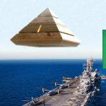 Filtran vídeo de OVNI piramidal volando sobre un buque de la Marina de EE. UU.
