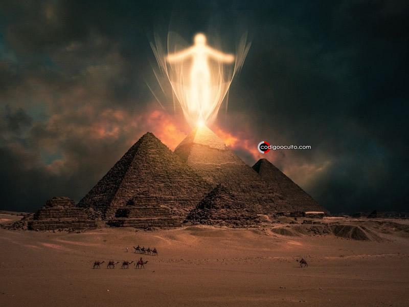 Representación artística de las Pirámides de Egipto.