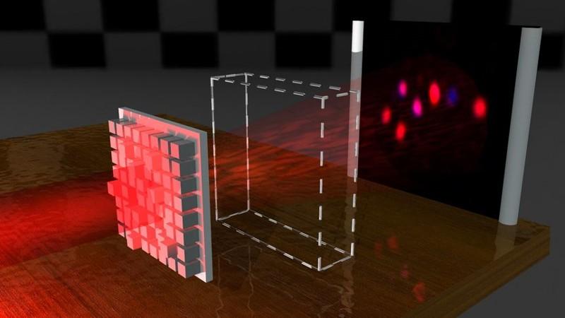 Tecnología de invisibilidad luego de aplicar haces de luz
