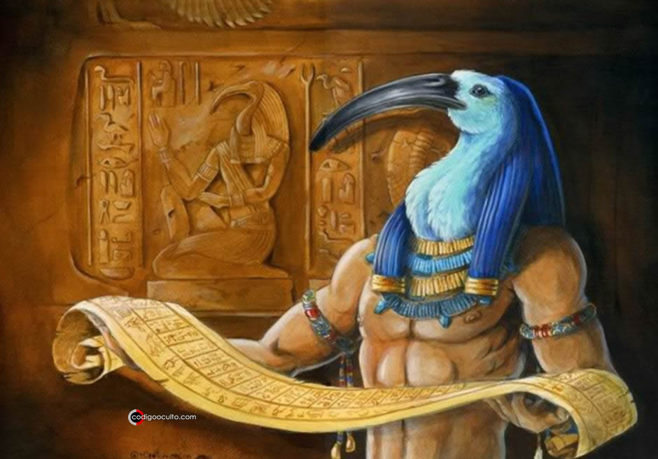 Representación del dios egipcio Thoth