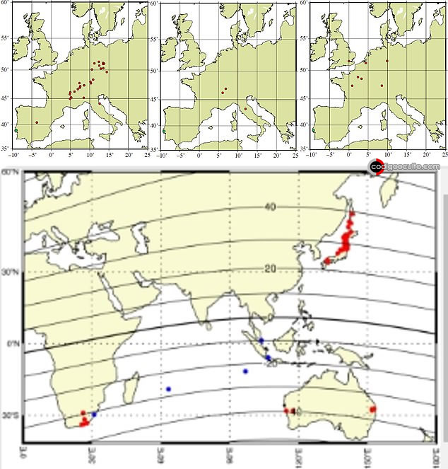 Se dice que la tormenta solar que azotó en 1909 fue una de las más intensas del siglo XX. Según los registros de auroras japonesas, el color azulado comenzó a aparecer primero, seguido del color rojizo