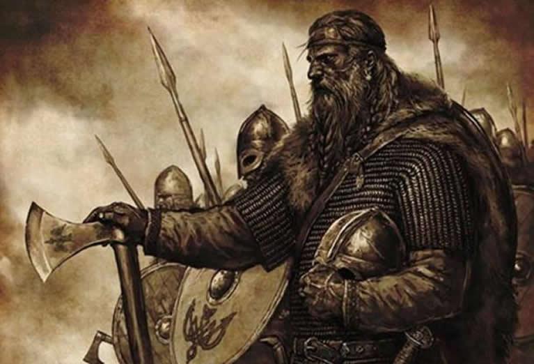 Representación artística de un vikingo