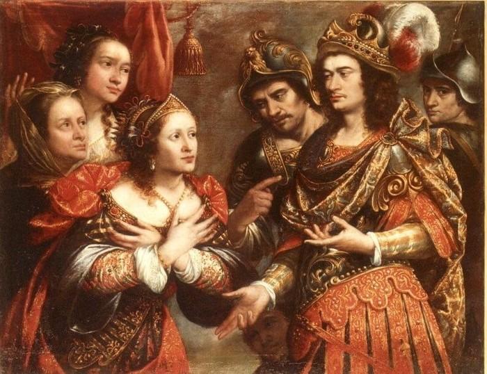 """""""La familia de Darío ante Alejandro Magno"""", obra de Justus Sustermans conservada en la Biblioteca Museo Víctor Balaguer"""