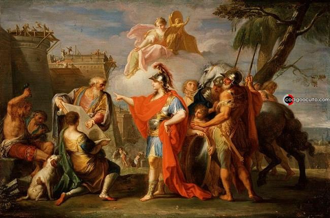 Alejandro en el Templo de Jerusalen (332 a.C.), de Sebastiano Conca (1736)