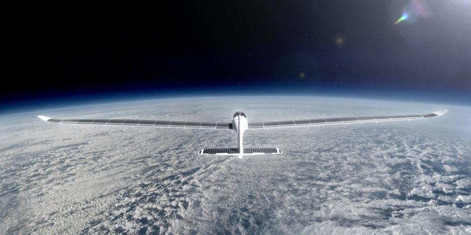 Avión surcando la estratósfera