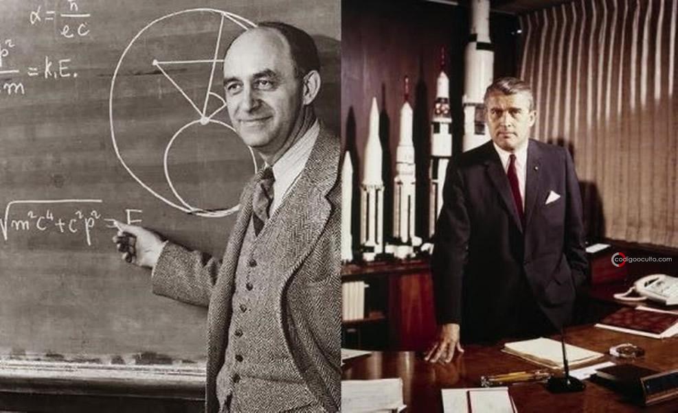 Enrico Fermi y Wernher von Braun, dos de los prominentes científicos, quiénes habrían colaborado con Ernetti