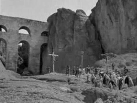 Escena que representaría la crucifixión de Jesús, según captara el Cronovisor