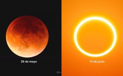 Dos eclipses de Luna y Sol a punto de ocurrir: este 26 de mayo y 10 de junio ¡con apenas días de diferencia!
