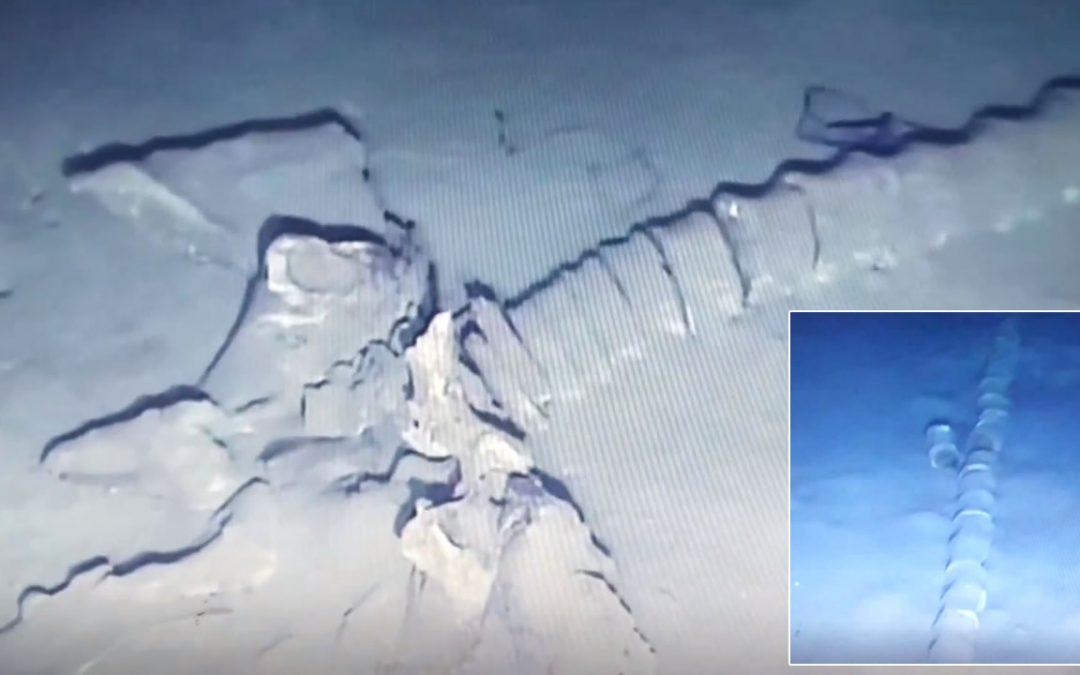 ¿Es esto el esqueleto de un «monstruo marino» en el fondo del Mar Mediterráneo? (VÍDEO)