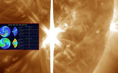 Erupciones solares recientes: tormenta magnética es probable para este 25 y 26 de mayo