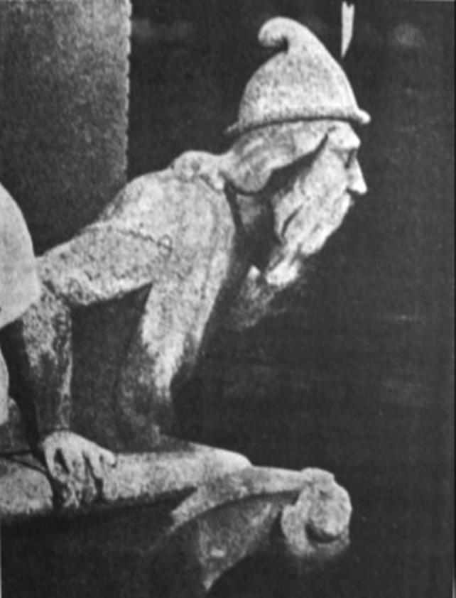 Uno de los grabados que adornan El Misterio de las catedrales, 1926
